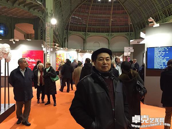 孙昌茵在法国巴黎大皇宫沙龙艺术大展